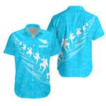 New Zealand Haka Fern Rugby Hawaiian Shirt - Blue K4