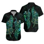 New Zealand Silver Fern Couple Hawaiian Shirt Paua Shell K4