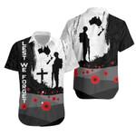 Anzac Day Hawaiian Shirt, New Zealand Australia Lest We Forget K4