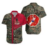 Anzac New Zealand Hawaiian Shirt Lest We Forget Camo - Road to Peace K4