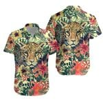 Flowers Leopard Hawaiian Shirt Tropical K5 - Beige