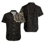 Maori Gecko Tattoo Hawaiian Shirt - Tan K5