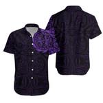 Maori Gecko Tattoo Hawaiian Shirt - Purple K5
