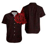Maori Gecko Tattoo Hawaiian Shirt - Red K5