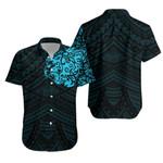 Maori, New Zealand Lion Tattoo Hawaiian Shirt - Blue K5