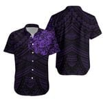 Maori, New Zealand Lion Tattoo Hawaiian Shirt - Purple K5