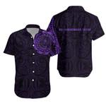 Lest We Forget New Zealand Maori Tattoo Hawaiian Shirt - Purple K5