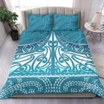 NZ Bedding Set, Blue Maori Taaniko K5