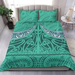 NZ Bedding Set, Turquoise Maori Taaniko K5