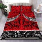 NZ Bedding Set, Red Maori Taaniko K5