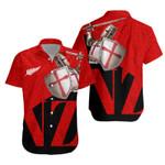 Knight Templar Hawaiian Shirt, Red K5