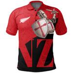 Knight Templar Polo Shirt Maori Tattoo, Red K5