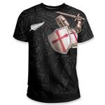 Knight Templar T Shirt Maori Tattoo, Black K5