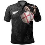Knight Templar Polo Shirt Maori Tattoo, Black K5