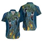 Tui Bird Mix Kowhai and Silver Fern Hawaiian Shirt K5