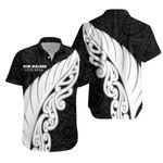 New Zealand Hawaiian Shirt Silver Fern Wing K4
