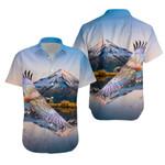 New Zealand Hawaiian Shirt Kea Bird K4