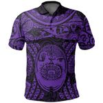 Maori Tattoo, Mini Maui Tattoo Polo Shirt, Purple K5
