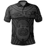 Maori Tattoo, Mini Maui Tattoo Polo Shirt, Grey K5