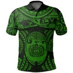 Maori Tattoo, Mini Maui Tattoo Polo Shirt, Green K5