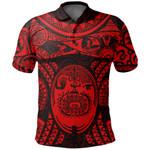 Maori Tattoo, Mini Maui Tattoo Polo Shirt, Red K5