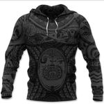 Maori Tattoo, Mini Maui Tattoo Hoodie, Grey K5