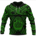 Maori Tattoo, Mini Maui Tattoo Hoodie, Green K5