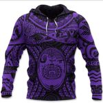 Maori Tattoo, Mini Maui Tattoo Hoodie, Purple K5