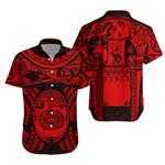 Maori Tattoo, Mini Maui Tattoo Hawaiian Shirt, Red K5