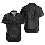 Maori Tattoo, Mini Maui Tattoo Hawaiian Shirt, Grey K5