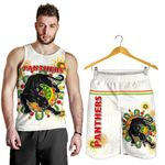 Combo Men Tank Top and Men Short Penrith Indigenous Panthers - White