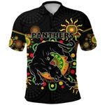 Penrith Polo Shirt Indigenous Panthers - Black