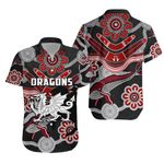 Dragons Hawaiian Shirt St. George Indigenous Black K4