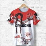 Dragons T Shirt St. George Aboriginal White TH5
