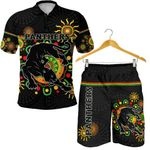 Combo Polo Shirt and Men Short Penrith Indigenous Panthers - Black