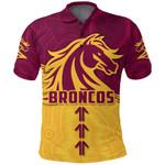 Broncos Polo Shirt Brisbane Aboriginal K4