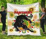 Penrith Premium Quilt Indigenous Panthers - White K8