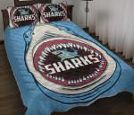 Sharks Rugby Quilt Bed Set K4