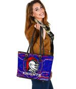 Knights Small Leather Tote Aboriginal TH4