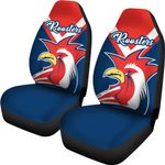 Australia Roosters Car Seat Covers Rugby K4