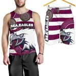 Combo Men Tank Top and Men Short Sea Eagles Aboriginal