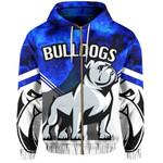 Bulldogs All Over Zip-Hoodie