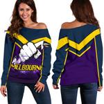 Melbourne Women's Off Shoulder Sweater Thunder
