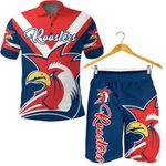 Combo Polo Shirt and Men Short Australia Roosters Rugby K4