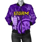 Melbourne All Over Women Bomber Jacket Storm TH4