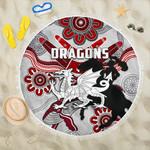 Dragons Beach Blanket St. George Indigenous White K4