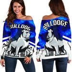 Bulldogs Women's Off Shoulder Sweater