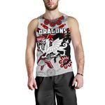 Dragons Men Tank Top St. George Indigenous White | Ruglylife.co