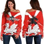 ST.George Women's Off Shoulder Sweater
