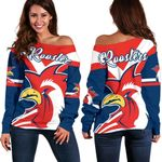 Australia Roosters Off Shoulder Sweater Rugby K4